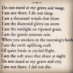 Living beyond the grave.. so beautiful