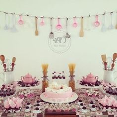 Ideas For Kitchen Decor Pink Inspiration Party Decoration, Table Decorations, Centerpieces, Bride Shower, Kitchen Shower, Bouquet, Cool Kitchens, Party Time, Party Fun