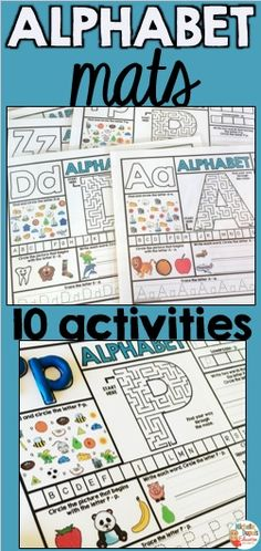 Are you looking for a fun and effective way to work on letters? These alphabet mats include ten learning activities that will allow students discover and master each letter.