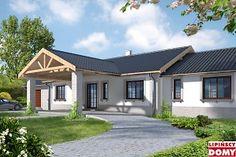 Duży i wygodny dom dla pięcio-sześcioosobowej rodziny, o atrakcyjnej architekturze, zdecydowany detal nadaje temu domowi wyjątkowego charakteru, który może zaspokoić nawet bardziej wysublimowane gusta. Dobrze widoczny jest podział na trzy strefy – dzienną, nocną i gospodarczą. Duży pokój dzienny stanowi centralny punkt domu i posiada bezpośrednie połączenie z jadalnią i kuchnią. Przy kuchni znajdziemy wejście do strefy gospodarczej, w której można zlokalizować np. Spiżarnię i pomieszczenie…