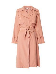 Mantel mit Taillengürtel Rosé - 1