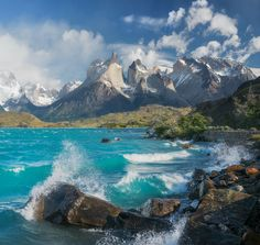 Torres del Paine and Lake Pehoe in Chile