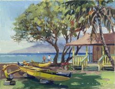 Canoe Beach, Maui by Ronaldo Macedo of Lahaina Galleries. for info or availability call 808.661.MAUI or visit: www.lahainagalleries.com