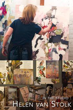 Artist studio visit with Helen van Stolk