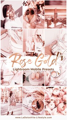Professional Mobile Lightroom Presets by DolceVitaPresets Feeds Instagram, Pink Instagram, Instagram Ideas, Lightroom Effects, Lightroom Presets, Aesthetic Pastel Wallpaper, Pink Aesthetic, Rose Gold Pictures, Photo Store