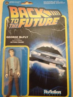 "Back To The Future George McFly 3 3/4"" Fully Posable Action Figure ReAction #ReAction"