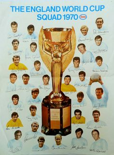 England squad poster for the 1970 World Cup Finals.