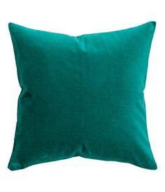 Pudebetræk i velour | Smaragdgrøn | Home | H&M DK