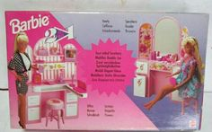 Barbie 2in1 Vanity&Office Playset. Vintage. HARD TO FIND! NRFB #barbie #barbies #barbiecollector #barbiecollection