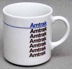 Vintage Amtrak mug, $10 on eBay (sold) /via https://twitter.com/rstevens/status/271120089309409280