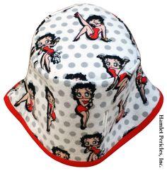 Betty Boop Flannel Bucket Hat  Polka Dots  by HamletPericlesInc