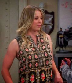 """Penny's eight sixty Printed Sleeveless Button Front Shirt The Big Bang Theory Season 7, Episode 12: """"The Hesitation Ramification"""""""