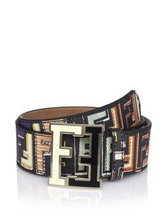 51% OFF Fendi Men's Logo Belt (Black/Multi)