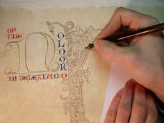 """Benjamin Harff bound and illuminated a copy of """"The Silmarillion"""" by Tolkein for his senior art project. Inspiring!"""