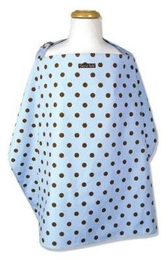 The Max Dot Nursing Cover fits easily into diaper bag or purse. It has an adjustable neck strap with D ring for comfortable fit. One size fits all. 100% cotton percale. Approximately 24 #tinytotties