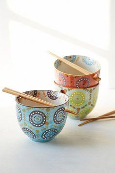 Medallion Noodle Chopsticks + Bowl