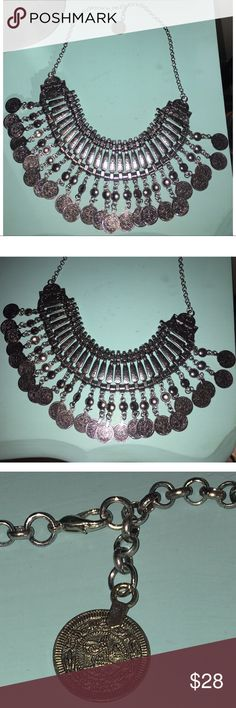 So boho FP Tibetan silver coin necklace This necklace is a stunner. So boho anthro free people spell gypsy hippie chic saint St. Eve Unbranded but similar to necklaces sold at Free People Free People Jewelry Necklaces