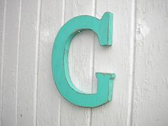 Wooden letter G capital Wall Art Shabby chic by Twigs2Whirligigs, $32.00