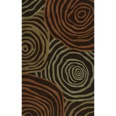 Addison Zenith Bold Geometric Brown/Orange Area Rug (9'X13') (Zenith 12 Brown 9'X13'), Size 9' x 13'