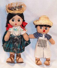 Vintage Mexican Cloth Dolls