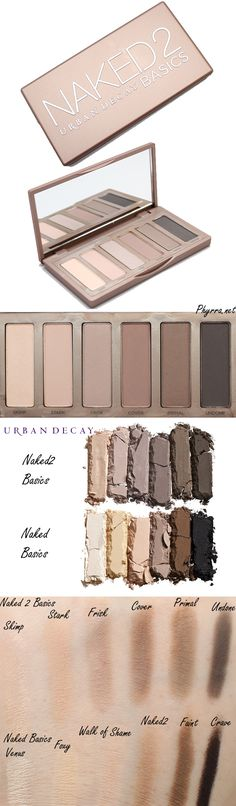 NEW! via Phyrra: Urban Decay Naked 2 Basics compared to the Naked Basics Palette! #crueltyfree #urbandecay #eyeshadow