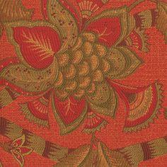jacobean-floral-upholstery-fabric-designer-kalin-baymont-coral-dark-orange-olive-green-8.jpg (900×900)