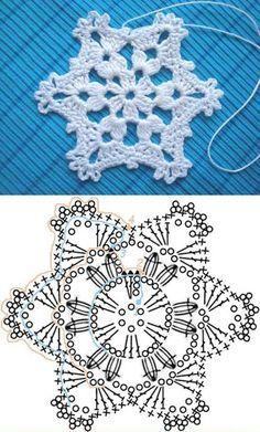 Pretty Crochet snowflake.  Check pattern & video--> http://wonderfuldiy.com/wonderful-diy-crochet-snowflakes-with-pattern/