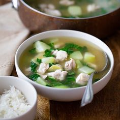 Garlic Chicken Soup Recipe, Chicken Soup Seasoning, Healthy Chicken Soup, Lemon Chicken Orzo Soup, Creamy Chicken, Chicken Recipes, Easy Chicken Tinola Recipe, Ginger Chicken Soup, Chicken Squash