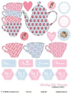pb shabby chic teacups prev Free Printable Download Shabby Chic Teacup Elements