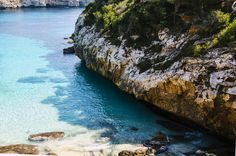 Cala Mitjana,Spain 2017 - Cala Mitjana, The Mediterranean sea in Cala Mitjana in a beautiful sunny day! Cala, Mediterranean Sea, Sunny Days, Landscapes, Spain, Water, Outdoor, Beautiful, Paisajes