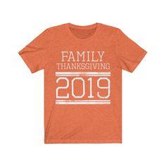 Matching Family Thanksgiving Reunion T-shirts Football Jersey Style - Heather Orange / XL