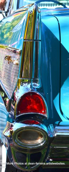 Aqua 1957 Chevy Fin and Tail Light by http://dean-ferreira.artistwebsites.com/?tab=artwork