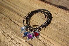 Swarovski Bracelet Swarovski Heart Bracelet Swarovski Friendship Love Bracelet Macrame Swarovski Owl Bracelet Red Blue Crystal Pink Bracelet