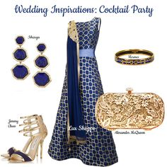 Ultra-chic modern evening look for a cocktail party in gold and guaranteed to turn heads. Inspiration Boards, Style Inspiration, Asian Bridal, Midnight Blue, Online Boutiques, Bridal Dresses, Wedding Events, Jimmy Choo, Designer Dresses