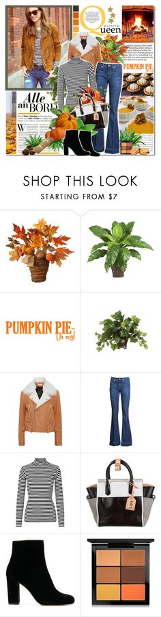 """Opa Pumpkin Style :)"" by ellchy89 ❤ liked on Polyvore featuring National Tree Company, PLANT, IRO, Dondup, Reed Krakoff, MAC Cosmetics, vintage, black, anklebooties and fallfashion"