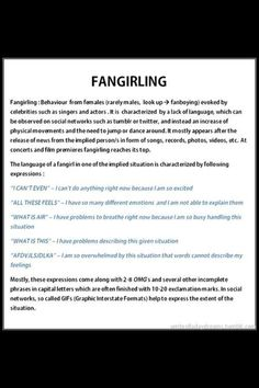 Fangirling explained..............I cant even...