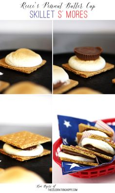 Reece's Cup Skillet S' Mores | Kim Byers, TheCelebrationShoppe.com