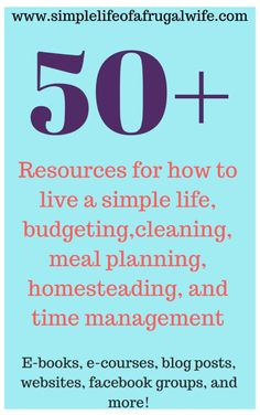 Frugal Living -Learn how to live frugally - Simple Life of a Frugal Wife