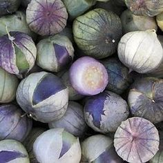Organic Heirloom Purple Tomatillos -- Mmm, there's a bunch out back! Home-made Salsa!!