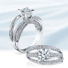You are the center of my universe.      Designer Engagement Rings  Vanna K Style No: 18RO4194DCZ