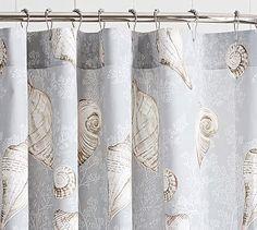 Summer Seashell Shower Curtain #potterybarn