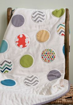 Organic+Baby+Quilt+DOTS+Made+to+Order+by+organicquiltcompany,+$295.00