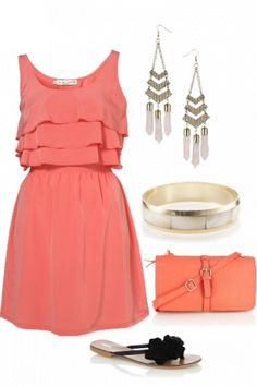 beach chic summer style! defenitly love the cute casual dress