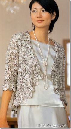 DiaryofaCreativeFanatic: Needlecrafts - Crochet, Circling the Edge Crochet Bolero, Crochet Jacket, Crochet Poncho, Crochet Cardigan, Crochet Shrugs, Crochet Sweaters, Blog Crochet, Mode Crochet, Creative Knitting