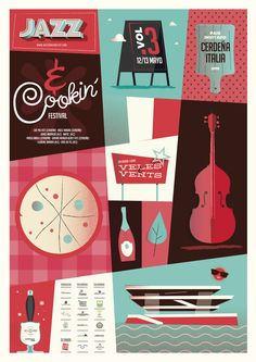 JAZZ & COOKIN´ jazz festival. Valencia 2017 Valencia, Jazz Festival, Poster, Studio Apartment Design, Projects, Posters, Billboard