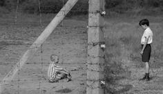 "The story is implausible: Bruno, the son of a German officer and Shmuel, a Jewish child, spend their days talking, separated by about the concentration camp Auschiwitz. Bruno's father is the director of the concentration camp where Shmuel is confined to the family. They become friends even under all the ""propaganda"" which Bruno is exposed, placing the Jews as enemies of Germany."