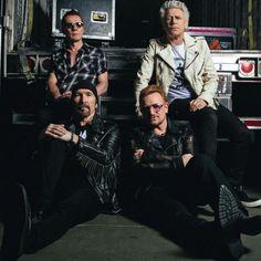 #U2 at backstage at #TDGarden, Boston @U2 #QMagazine #U2ieTour  #LarryMullenJr #TheEdge #AdamClayton #Bono