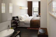 Bathroom and Guestroom in the Sir Albert Hotel Amsterdam, Amsterdam, Netherlands