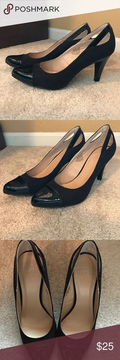 🆕NIB Black Heels New In Box. Black heels. Super cute cut out on the heel of the shoe. Brand is Mootie Tooties. Listing as Dolce Vita for views. Dolce Vita Shoes Heels