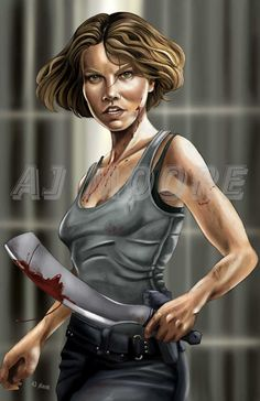 Maggie Greene The Walking Dead: portrayed by Lauren Cohan Maggie Greene - by AJ Moore Walking Dead Drawings, Walking Dead Fan Art, Amc Walking Dead, Walking Dead Tv Series, Walking Dead Zombies, Fear The Walking Dead, Lauren Cohen, Maggie Greene, Hulk Art